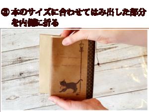 ブックカバーのつけ方3